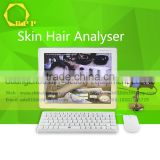 Connecting and installing external computer skin analysis device for salon use