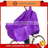 fashion Unisex Hooded Raincoat Bike Rain Poncho Bicycle Rainwear Waterproof Rain Coat-purple