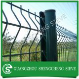 Heavy duty railway used fencing steel welded wire curve 3D fence panels post fence for sale
