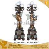home use cast bronze statue lamp holder for sale