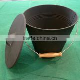 Galvanized Bucket wooden handle coal hod/fire tools/Portable High Quality Ash/Ice/coal Bucket/pails ice bucket with lid