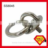 SS8045 Marine Deck Hardware Stainless Steel 304 Round Eye Plate With Ring with machine screw sink holes ring plate