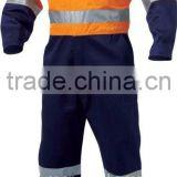 100% Cotton constructive Coveralls / Hi Viz Coveralls Fire Resistant Clothes / Safety Clothing Work Suit