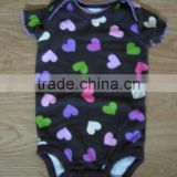 2014 china supply factory price wholesale baby clothes for sale heart-shaped colorful croched organic cotton romper
