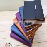 Factory Cheap Price Custom wallet shape design leather pocketbook/notebook printing with pen