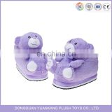 Hot sale plush bear indoor winter slippers shoes for kids