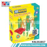 DIY game kids high quality 3d building printer toys with specification