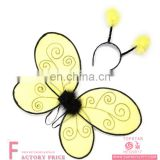 wholesale yellow butterfly plastic angel wings isis wings sale