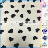 Hot Sale Decorate Heart pattern design 80% polyester 20% spandex Bra Fabric