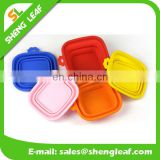 Silicone foldable pet bowls