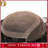 virgin Indian human hair piece men toupee