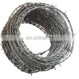 best price hot dipped galvanized weight of barbed wire per meter length/high tensile barbed wire price per roll
