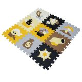 QT MAT Non-toxic 12in x 12in 9pcs/set EVA Foam Pirate Puzzle Mat Flooring