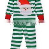 100% soft cotton fabric baby boys pajamas , sleeping wear christmas santa print underwear clothing children