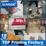 Custom die cut shape floor sticker floor decal for advertising D-0615                                                                         Quality Choice                                                                     Supplier's Choice