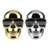 2015 Newest products skull bluetooth speaker NFC Promotional Halloween gift bluetooth speakerer