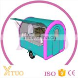 Mobile Food Trailer for Sale/ Manufacture Customized Hand Push Food Trailer/ Fried Ice Cream Food Truck