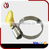 Germany type steel round tube clamp with yellow handle
