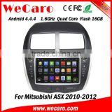 Wecaro Android 4.4.4 car dvd player in dash touch screen car radio for mitsubishi asx WIFI 3G steering control 2010 2011 2012