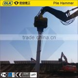 Excavator mounted Hydraulic vibrating hammers for sheet pile concrete pile                                                                         Quality Choice