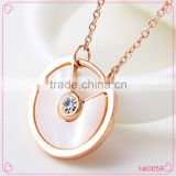 Exquisite Hot Sale Fashion Resin and Pearl Alloy Shell Charm Necklace Stainless steel Jewelry Necklace
