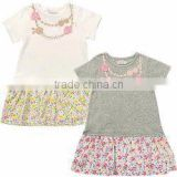 Japanese infant clothes manufacture high quality wholesale products cute baby tops tunic with skirt for girl kids wear