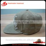 Custom logo embroidery linen hemp snapback hats with different types of snap back caps