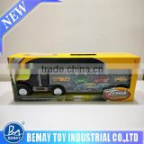 Plastic truck model with small diecast cars plastic truck with portable box