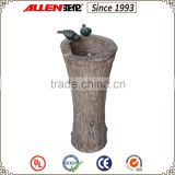 "31.1"" standing stump birds decorated water feature fountain, outdoor water feature"