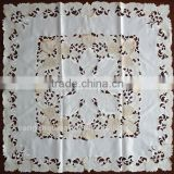 Machine Embroidery Applique Crochet Linen Tablecloth