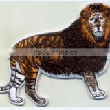 beauty 100% all embrodery lion patches iron on clothing/lion animal mathine embroidery design