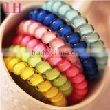 Telephone line custom elastic hair tie for girls