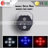 Mini LED Par Light,5pcs RGBW 4in1 Night Club Decoration Curtain Effect/Wedding LED Par Light