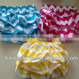Sales Promotion!4th of july New arrive colorful chevron fabric chevron zig zag diaper fashion design baby chevron bloomer