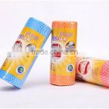 Roll of 50pcs Multipurpose Non-woven Fabric Nonstick Wiping Rags House Cleaning Cloth Kitchen Dish Dishcloth