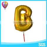 2016party foil balloon wth cup stick with letter shape or customer design shape for kids'gift or party decoration
