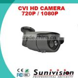 CCTV CAMERA CVI HD 720P / 1080P 2pcs*array LEDs ,50m Night vision Day/Night Waterproof IR Bullet Camera ip66