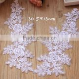 New Design Large Crochet Rose Flower Lace Applique,Embroidery Bride Applique For Wedding                                                                         Quality Choice