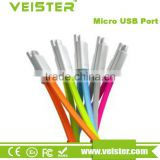 Veister Flat Travel Micro USB 2.0 Data Sync Charging Cable for Android and Windows Smartphones