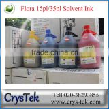 CRYSTEK Flora solvent ink for Spectra polaris 512 15pl 35pl printhead