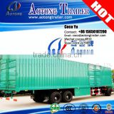 China high quality steel beam 2 axles cargo enclosed box truck trailer use van semi-trailer