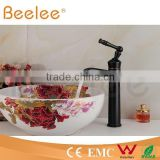 HOT SALE high arc balck orb antique brass single lever handle vessel faucet QL140410B