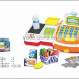 Toy Childrens plastic electrical home appliances cash register boy toy with LED lgith,calculator,scan,key chirp