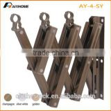 Folding Accordion Clothes Rack, Used at Wall-mount, with Aluminum Tube and ABS Plastic