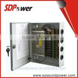 SDPower cost-effective 12v 120W Switching power supply 9 channels CCTV power box for Russia market
