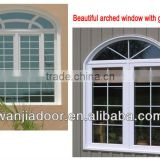 fashionable casement new style Aluminum arched casement window
