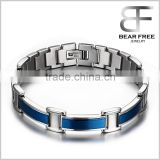 Classtic IP Blue Plating Watch Band Link Chain Waterproof Magnetic Bracelet Stainless Steel Jewelry                                                                         Quality Choice