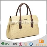 S570-B2783- ostrich genuine leather hand bags womens handbag leather tote bag                                                                         Quality Choice