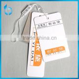 Hangzhou printing factory manufacture 3 pieces set of paper hangtag for girls baggy trousers