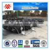Boat accessories high quality of pneumatic rubber marine fender with chain and tires